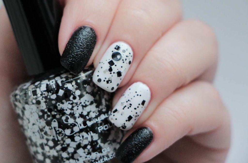 Черно-белый маникюр - 84 63