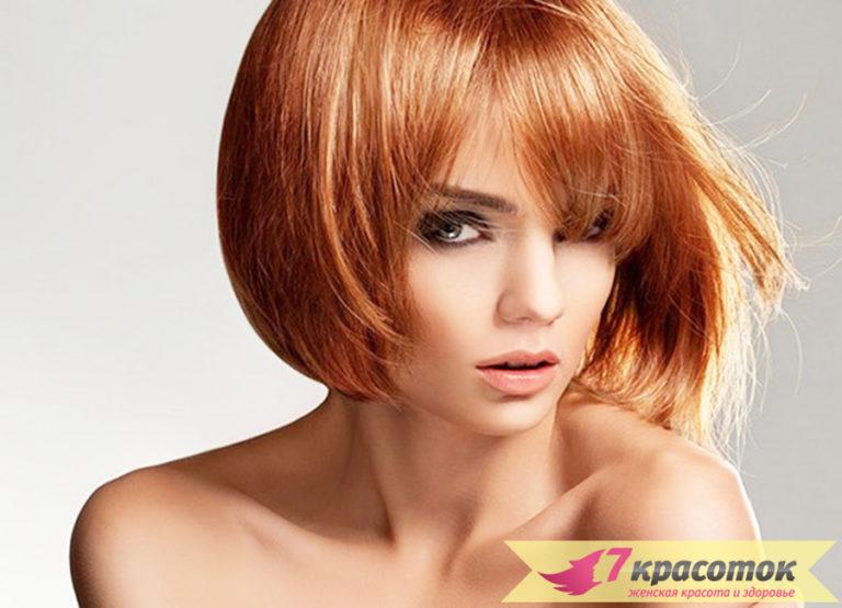 фото стрижки на средние волосы с челкой