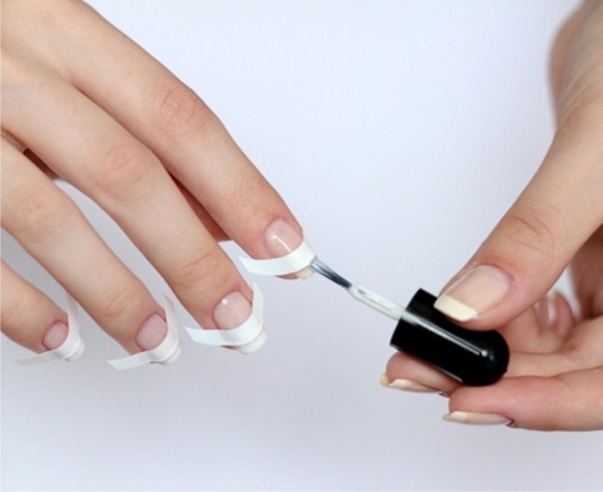 как сделать френч маникюр на квадратные ногти